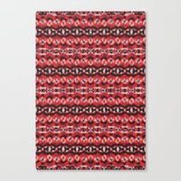 Montana Stripe - Cherry Canvas Print