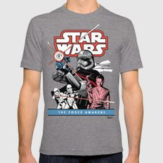 The Force Awakens Mens Fitted Tee Tri-Grey SMALL