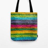 Rainbow In Wool Tote Bag