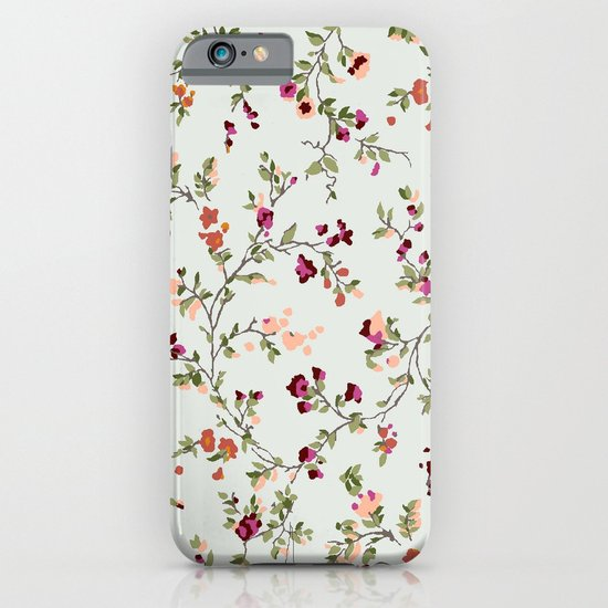 floral vines - neutrals iPhone & iPod Case