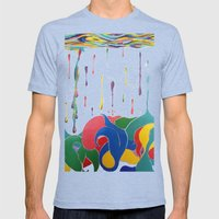 Plenty Of Sea In The Fish Mens Fitted Tee Tri-Blue SMALL