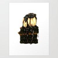 Brownie Sundae Art Print