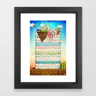 Framed Art Print featuring Princess Peach And The P… by Keith P. Rein