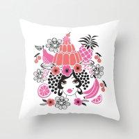 Jelly Miranda - Berry Ch… Throw Pillow