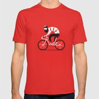 Let's Ride Mens Fitted Tee Red SMALL
