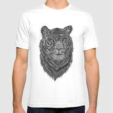 Tiger SMALL Mens Fitted Tee White