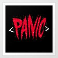 PANIC Art Print