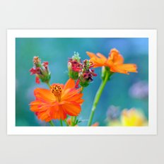 Ginger Dahlias - why not 53 Art Print