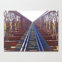 Abandoned railway tracks Canvas Print