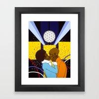 New York Kiss Framed Art Print