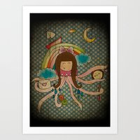 I'm A Little Octopus Art Print
