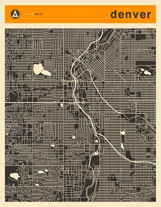 DENVER MAP Art Print