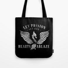 Let Passion Set Our Hearts Ablaze Tote Bag