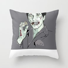 Zombie Al Pacino Scarface  Throw Pillow