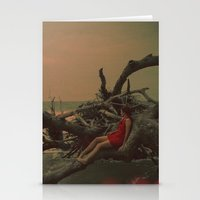 A Delicate Red Shadow Stationery Cards