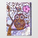 If Klimt Painted An Owl :) Owls are darling birds! Canvas Print
