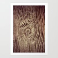Vintage Weathered Wood Art Print