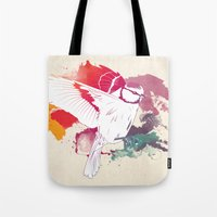 Tote Bag featuring Bird of Colour by Lynette Sherrard Illustration and Design