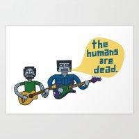 Conchords Robots Art Print