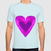 WEB OF LOVE Mens Fitted Tee Light Blue SMALL