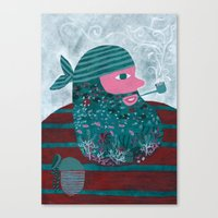 Lobo De Mar Canvas Print