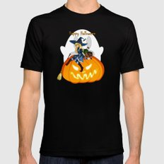 Happy Halloween SMALL Black Mens Fitted Tee