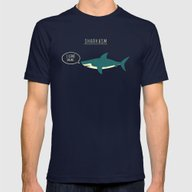 Sharkasm Mens Fitted Tee Navy SMALL