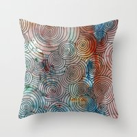 Circles, Water, & Color … Throw Pillow