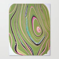 Napkin Gender/pink Green Canvas Print