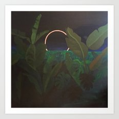 Jungle Eclipse Art Print