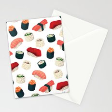 Sushi Pattern Stationery Cards