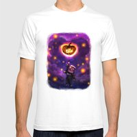 EllieWeen Mens Fitted Tee White SMALL
