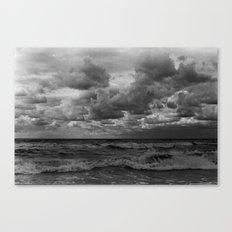 Cloudy waves Canvas Print