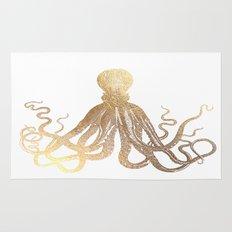 Gold Octopus  Rug