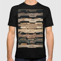 SHADES OF WOOD  Mens Fitted Tee Tri-Black SMALL