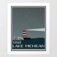 Visit Lake Michigan  Art Print