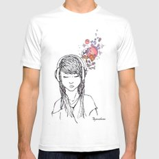 Visualizing SMALL White Mens Fitted Tee