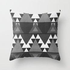 Aztec Grey Throw Pillow