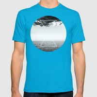 Roof of the World Mens Fitted Tee Teal SMALL