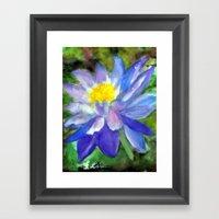 Blue Violet Lotus flower Framed Art Print