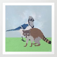 Mordecai and Rigby Art Print