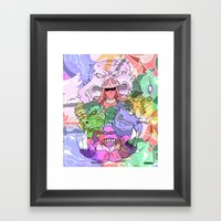 Villains Forever Framed Art Print