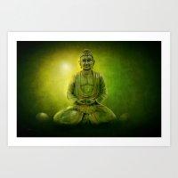 Happy Buddha 1 Art Print