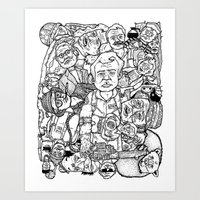 Murray Pile-Up Art Print
