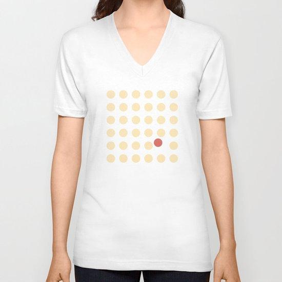 unanimity pattern V-neck T-shirt