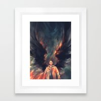 The Angel Of The Lord Framed Art Print