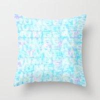 Hum Blue Throw Pillow