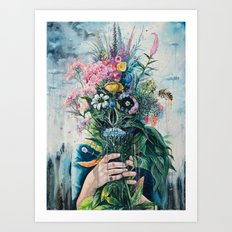 The Last Flowers Art Print