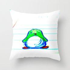 Radioactive Penguin Throw Pillow