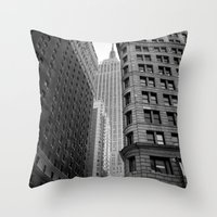 New York Building-1 Throw Pillow